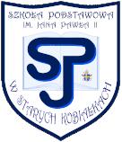 Logo Szkoły Podstawowej im. Jana Pawła II w Starych Kobiałkach